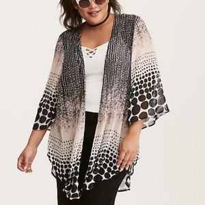 NWOT Torrid Ombre Polka Dot Kimono Size 2